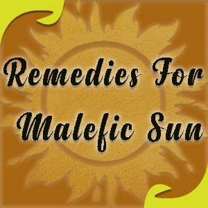 Lal Kitab Remedies For Sun or Surya