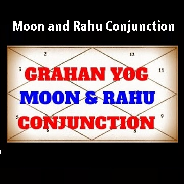 Moon and Rahu Conjunction