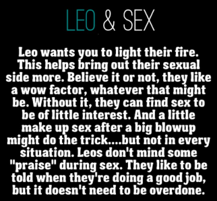 Zodiac signs and meanings sexuality leo