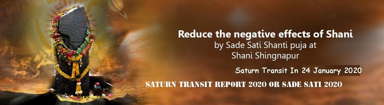 Saturn Transit Report 2020 or Sade Sati 2020