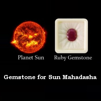 Gemstone for Sun Mahadasha